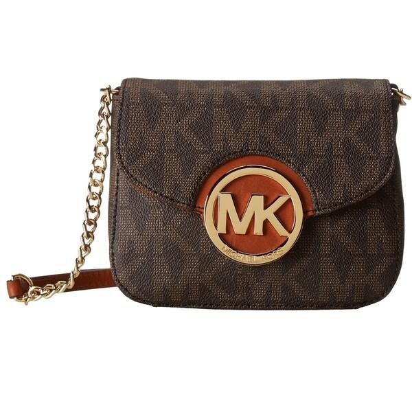 a8bd49712c3f8 Michael Kors Fulton Brown Logo Small Crossbody Handbag 17348162 on ...