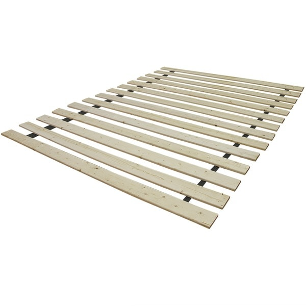 PostureLoft Elation Attached Solid Wood Bed Support Slats- Bunkie Board