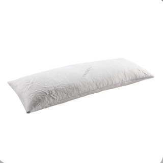 White Brushed Cotton Natural Feather Filled Body Pillow