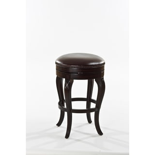 Wenden Tall 34 Inch Brown Leather Swivel Bar Stool