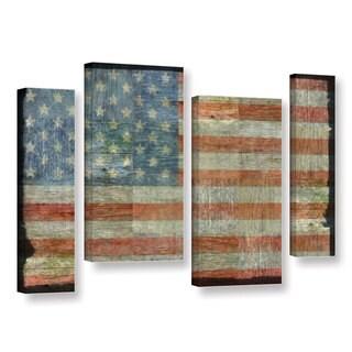 Americana Antique Style American Flag Metal Wall Decor