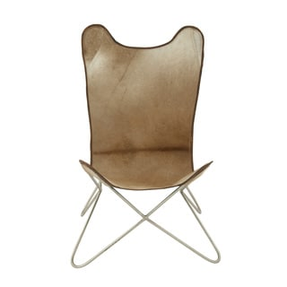 White Leather Butterfly Chair 16285014 Overstock Com