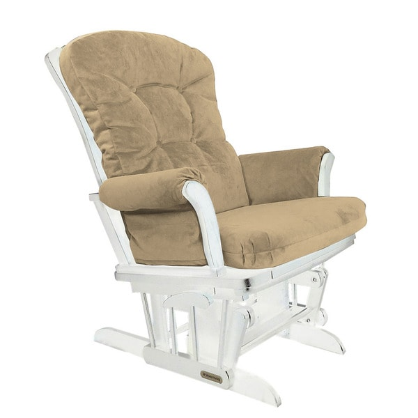 Shermag Upholstered Brown Glider Rocker Recliner Combo