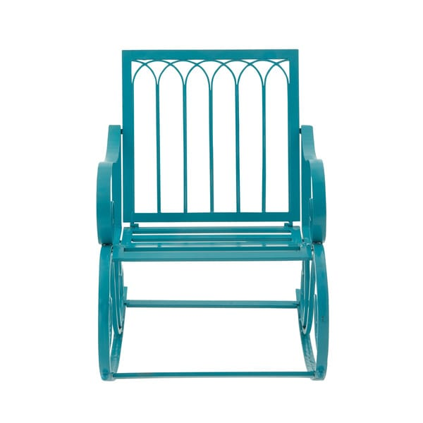 Outdoor Metal Turquoise Rocking Chair 17357007