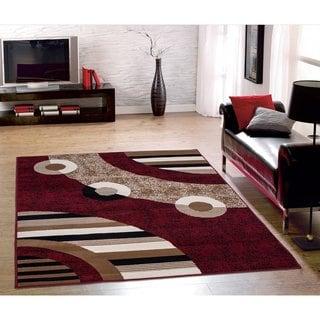 Indoor Beige And Rust Area Rug 15004670 Overstock Com