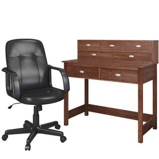 Soho Live Edge Hardwood And Wrought Iron Desk 16433883