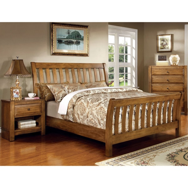 Furniture Of America Dimare Country Style 2-piece Rustic