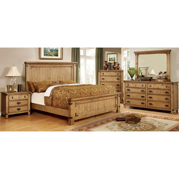Discount Country Furniture: Furniture Of America Sierren Country Style 4-piece Bedroom