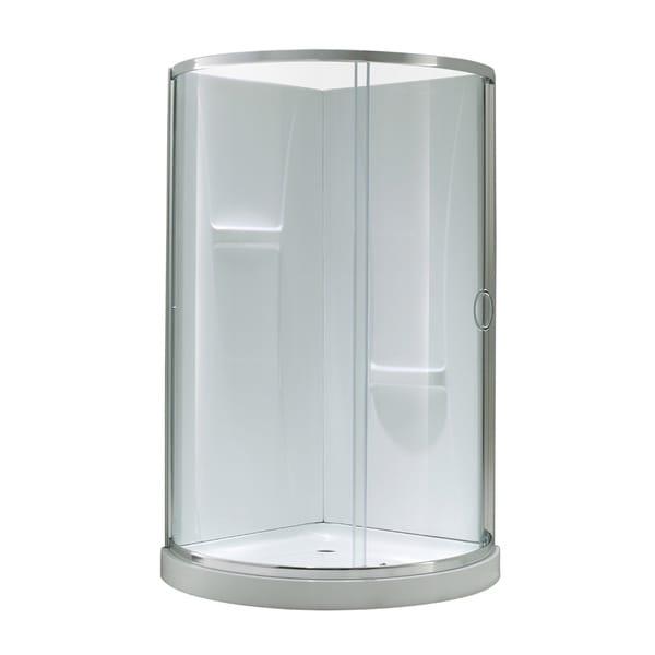 Ove Decors Breeze 34 Inch Shower Enclosure Kit With Paris Base Walls