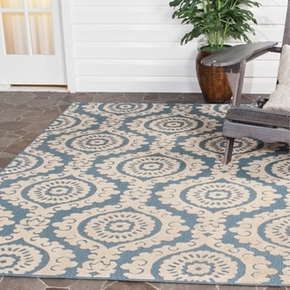 Abstract Ikat Ivory Blue Area Rug 7 10 X 10 16104729