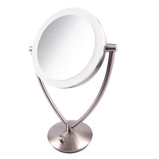 Conair Oval Chrome 1x 7x Double Sided Lighted Mirror