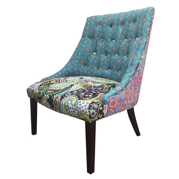Courtney Kantha Floral Accent Chair Overstock Shopping