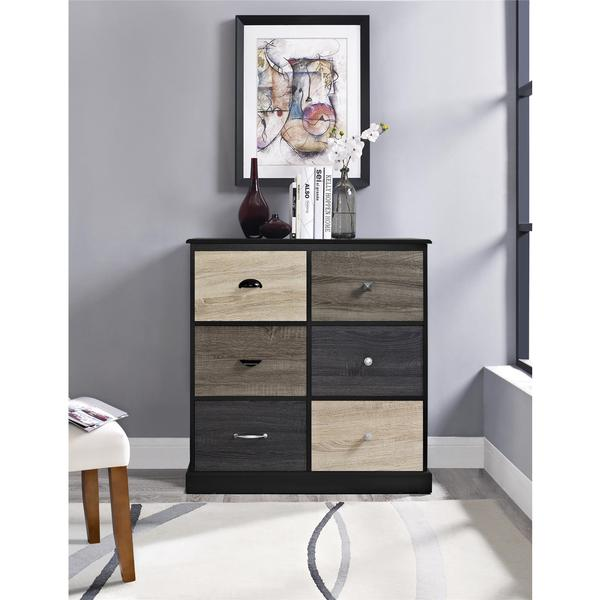 Altra Blackburn 6 Door Storage Cabinet With Multicolored