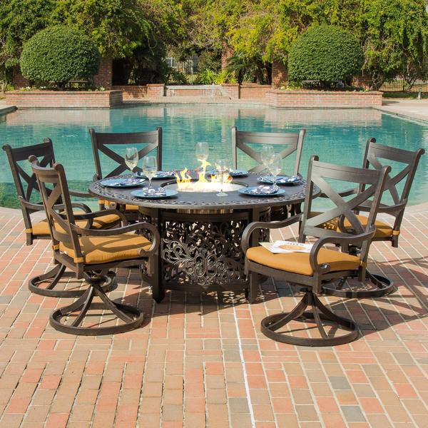 Lakeview Outdoor Designs Avondale 6 Person Cast Aluminum