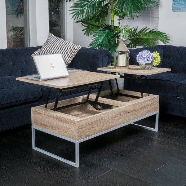 Christopher Knight Home Lift Top Wood Storage Coffee Table