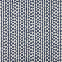 A0010E Blue Off White Circle Striped Upholstery Fabric