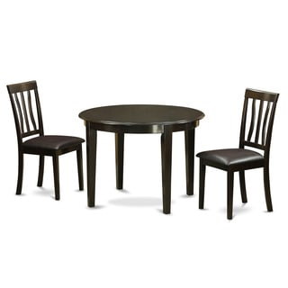 Cappuccino Silver Metal 3 Piece Bistro Table Set