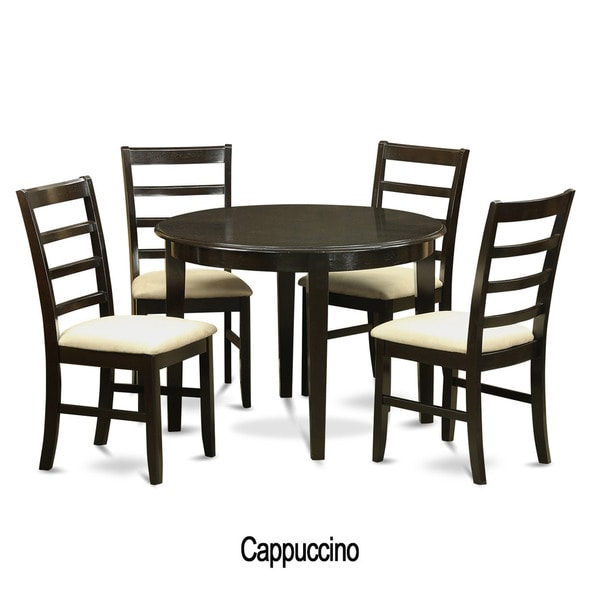 Small Round Kitchen Table And Chairs: 5-piece Small Round Kitchen Table And 4 Dining Chairs