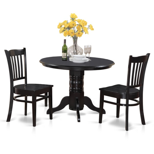 3 Piece Small Kitchen Table And Chairs Set Round Table And: 3-piece Small Round Table And 2 Kitchen Chairs