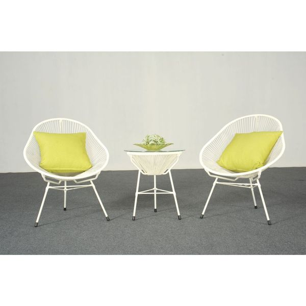 decorative modern white indoor outdoor bistro dining set 17410661 shopping. Black Bedroom Furniture Sets. Home Design Ideas