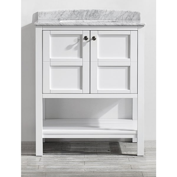 Vinnova Florence 30-inch Single Vanity in White with ...