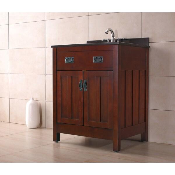28 Inch Bathroom Vanity With Sink: OVE Decors Cain 28-inch Dark Walnut Singe Sink Bathroom