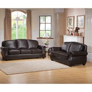 Stupendous Highland Premium Top Grain Dark Brown Leather Sofa And Inzonedesignstudio Interior Chair Design Inzonedesignstudiocom