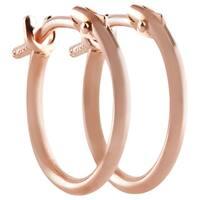 Pori 18k Rose Gold 2x10mm Circle Hoop Earrings