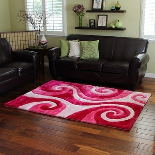 Sculpture 258 Abstract Swirl Blue Area Rug 5 X 7