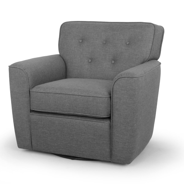 Canberra modern retro contemporary grey fabric upholstered - Modern upholstered living room chairs ...