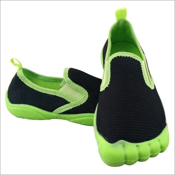 Boys Twin Gore Mesh Black Lime Water Shoes 17418333