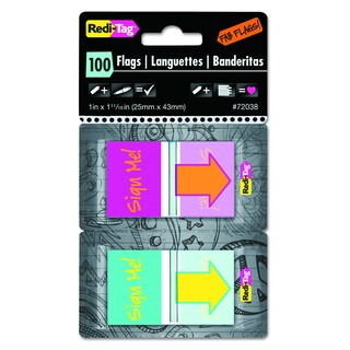Redi-Tag Pop-Up Sign Me Page Flags w/Dispenser