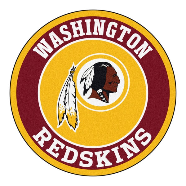 Fanmats Nfl Washington Redskins Goldand Red Nylon Roundel