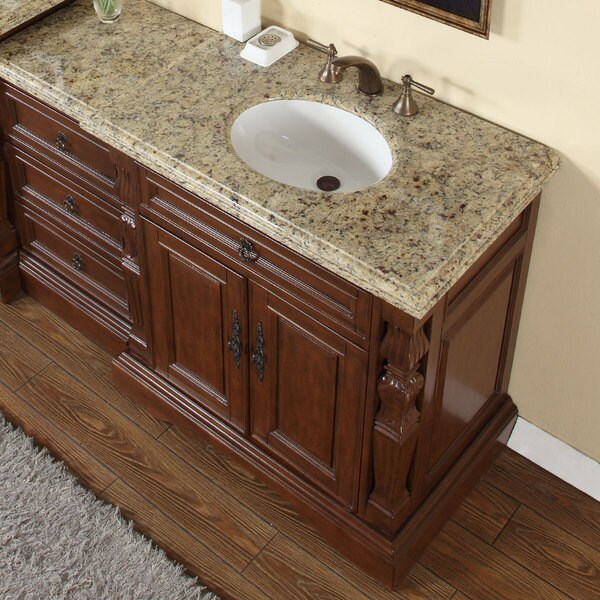 Silkroad Exclusive 55.5-inch Venetian Gold Granite Stone ...