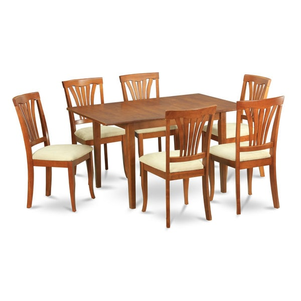 7 piece dinette set for small spaces small kitchen table and 6 kitchen chairs 17431098. Black Bedroom Furniture Sets. Home Design Ideas