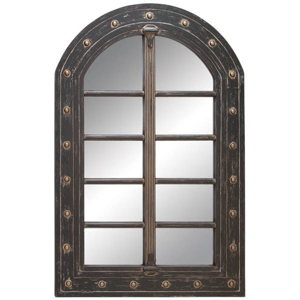 Arched Window Pane Wall Mirror 17431243 Overstock Com