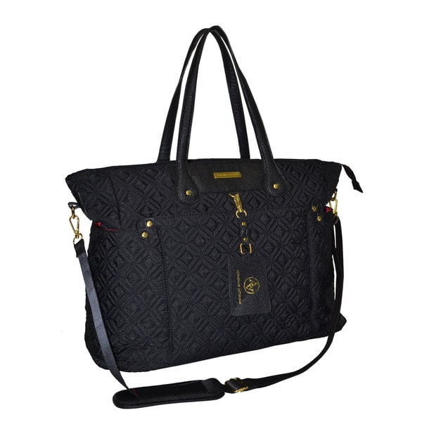 Adrienne Vittadini 17 Inch East West Quilted Laptop Tote