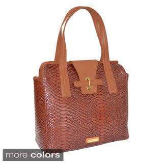 Siamod Serra Women S Leather 15 4 Inch Laptop Tote