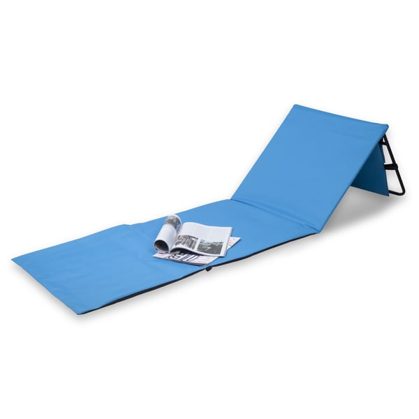 Danya B Set Of 2 Blue Portable Beach Lounge Chairs With