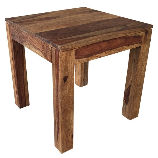 idris dark sheesham solid wood accent table 17439686 shopping great deals on. Black Bedroom Furniture Sets. Home Design Ideas