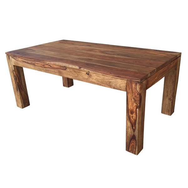 Idris Dark Sheesham Solid Wood Coffee Table