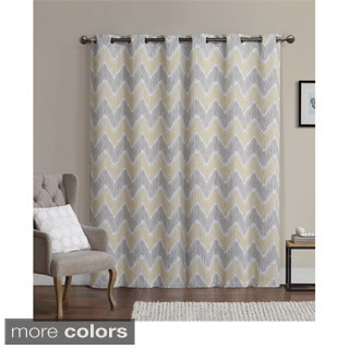 Overstock Exclusive Vcny Organic Leaf Blackout Curtain