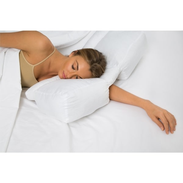 Better Sleep Stomach And Side Sleeper Gel Fiber White
