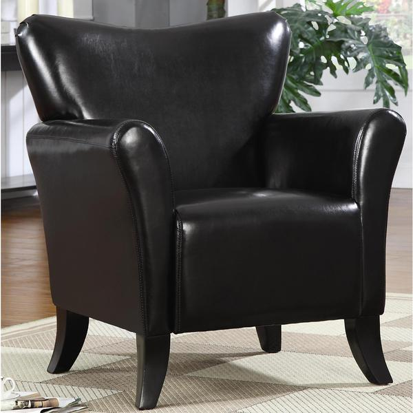Contemporary Living Room Black Upholstered Accent Chair
