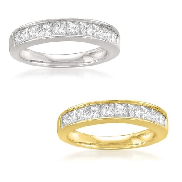 Montebello 14KT Gold 1ct TDW Princess-cut Diamond Channel Wedding Band