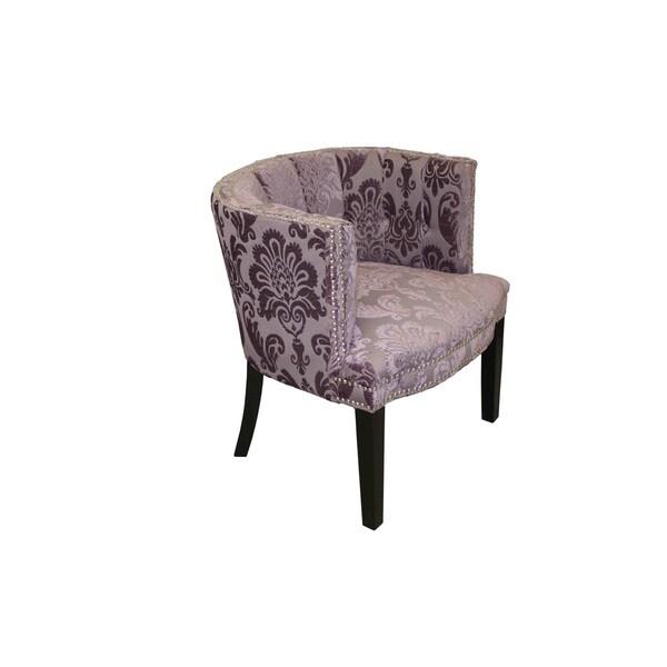 Bohemian Black Plum Fan Damask Arm Chair 17447510