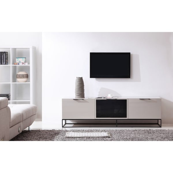 B Modern Animator High Gloss Cream Black Modern Ir Tv