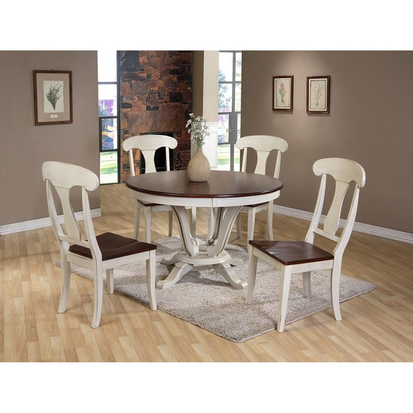 Country Dining Table Sets: Baxton Studio Napoleon Chic Country Cottage Antique Oak