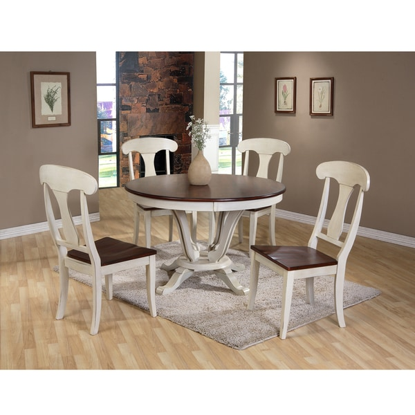 Cottage Dining Room Sets: Baxton Studio Napoleon Chic Country Cottage Antique Oak