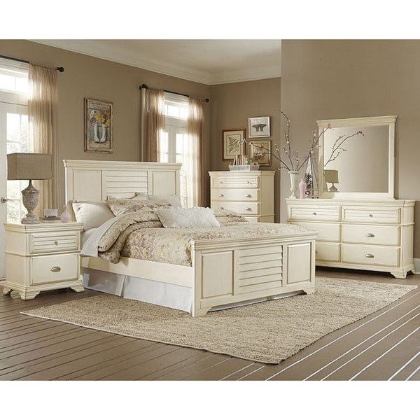Off White Bedroom: Malina Off-white Cottage Style 5-piece Bedroom Set